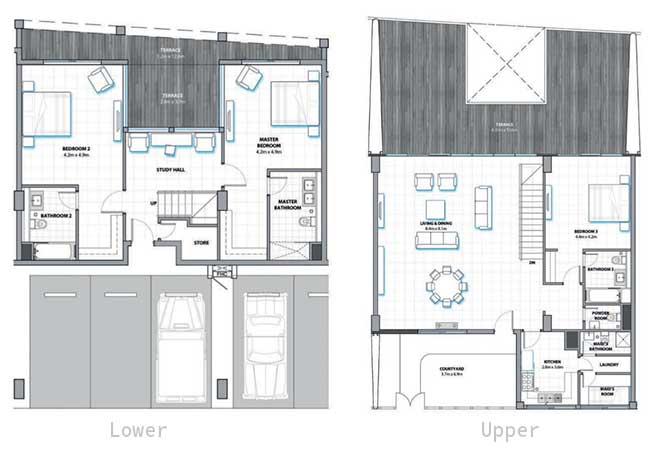 Al Hadeel Floor Plan 3 Bedroom Townhouse 3530 Sqft