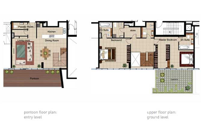 Al Naseem Floor Plan Building B 2 Bedroom Waterside Duplex Apartment Type 2b 2228 Sqft