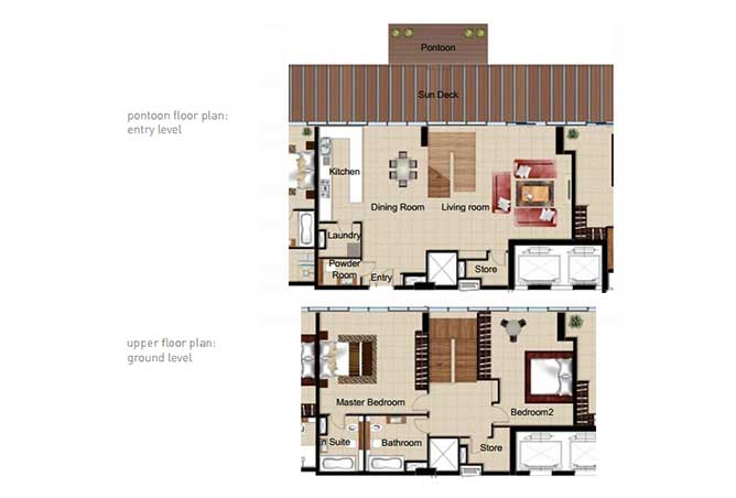 Al Naseem Floor Plan Building c 2 Bedroom Waterside Duplex Apartment Type 2a 2336 Sqft