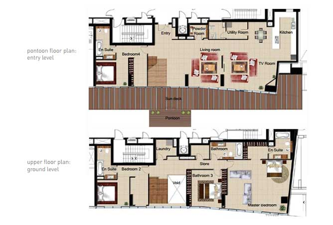 Al Naseem Floor Plan Building c 4 Bedroom Waterside Duplex Apartment Type 4a 4069 Sqft