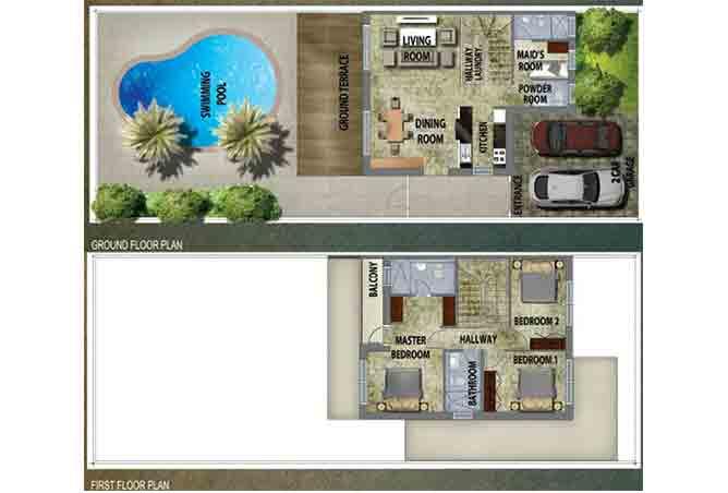Al Reef 2 Floor Plan Stand Alone Villa Type A