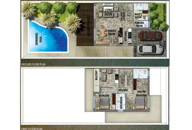 Al Reef 2 Floor Plan Stand Alone Villa Type B