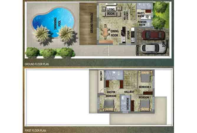 Al Reef 2 Floor Plan Villa Type A 2330 Sqft