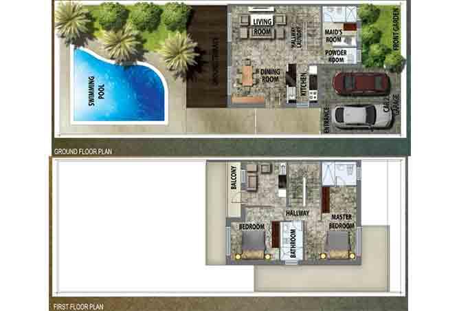 Al Reef 2 Floor Plan Villa Type B 2330 Sqft