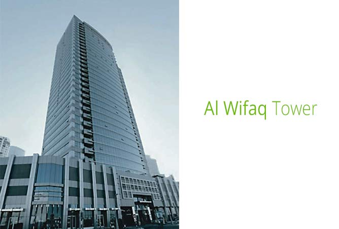 Al Wifaq Tower in Reem Island, Abu Dhabi