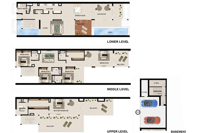 Al Zeina Abu Dhabi Floor Plan 5 Bedroom Beach Villa Type bv 3b