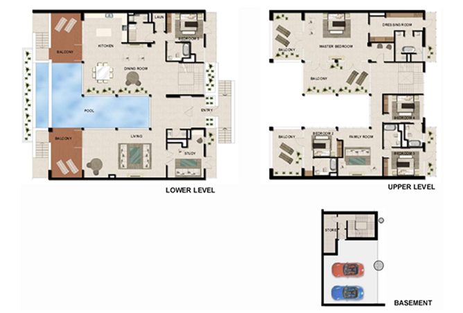 Al Zeina Abu Dhabi Floor Plan 5 Bedroom Beach Villa Type bv 5a