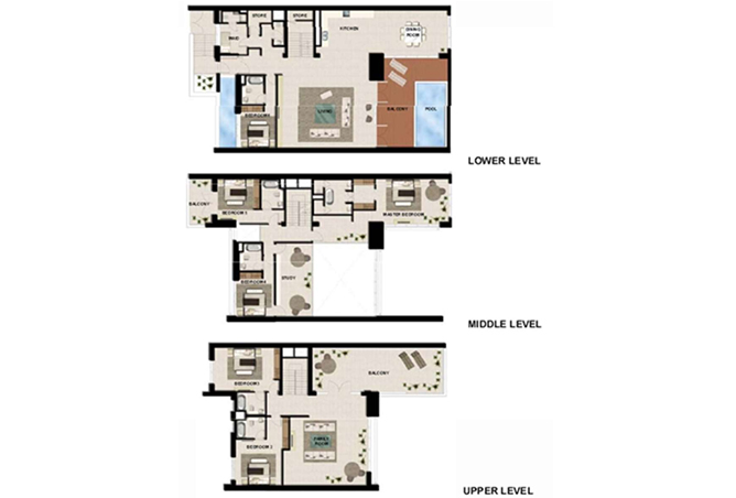 Al Zeina Abu Dhabi Floor Plan 6 Bedroom Podium Villa Type pv1 a2
