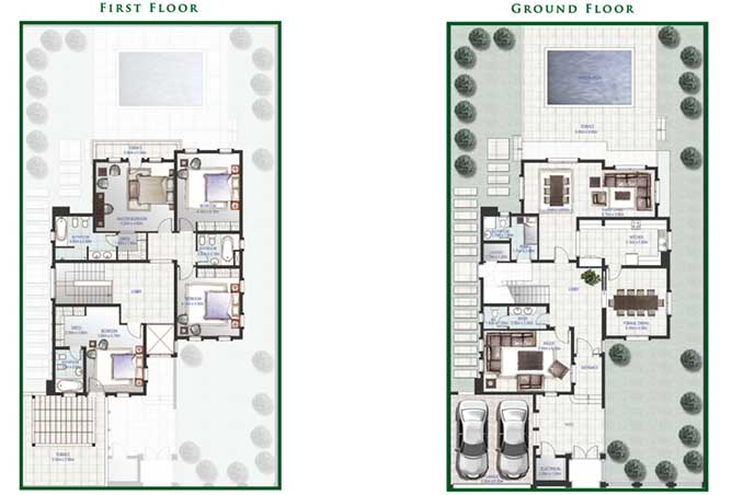 Golf Gardens Floor Plan Gardenia Villa 4 Bedroom 4349 Sqft