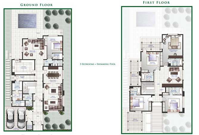 Golf Gardens Floor Plan Narjis Villa 5 Bedroom 5393 Sqft