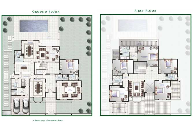 Golf Gardens Floor Plan Orchid Villa 6 Bedroom 7276 Sqft