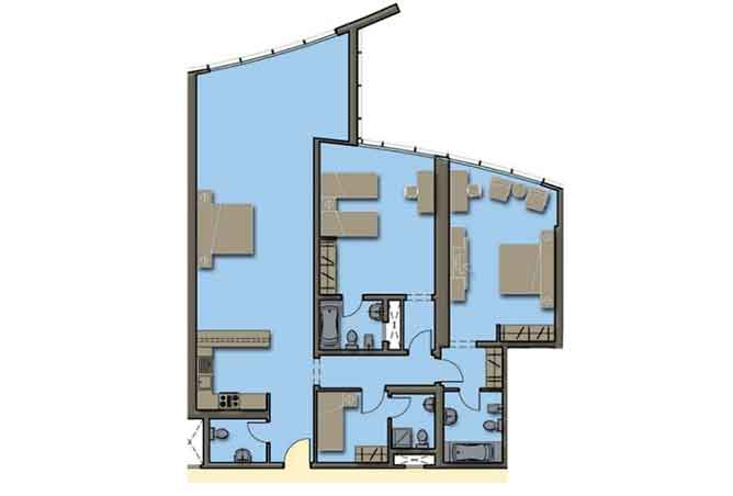 Hydra Avenue Floor Plan 3 Bedroom Apartment 1782 Sqft C4 C5 Type 3