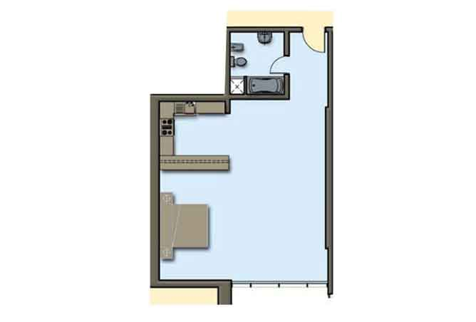 Hydra Avenue Floor Plan Studio Apartment 794 Sqft C4 C5 Type 5