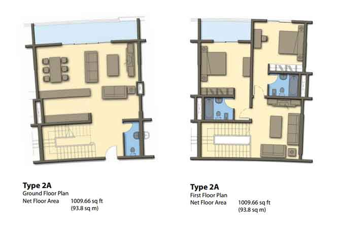 Hydra Avenue Floor Plan Townhouse 2018 Sqft C6 C7 C8 C9 Type 2a