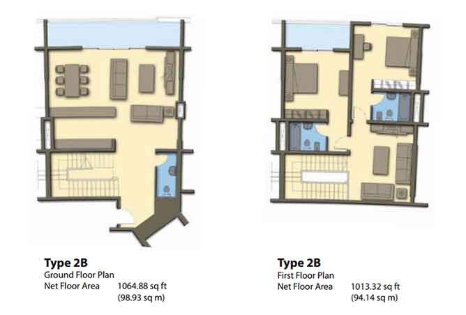 Hydra Avenue Floor Plan Townhouse 2078 Sqft C6 C7 C8 C9 Type 2b