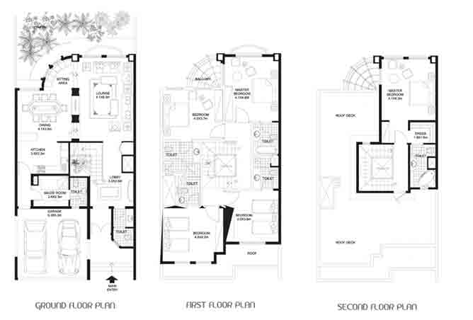 Khalidiya Village Floor Plan 4 Bedroom Villa Type a2 3498 Sqft