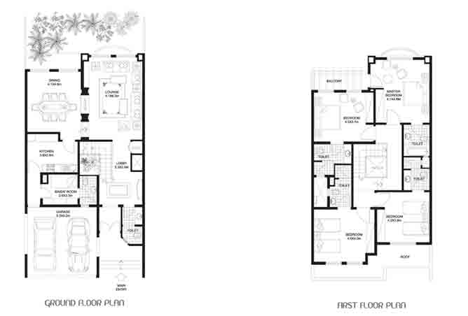 Khalidiya Village Floor Plan 4 Bedroom Villa Type a3 2971 Sqft