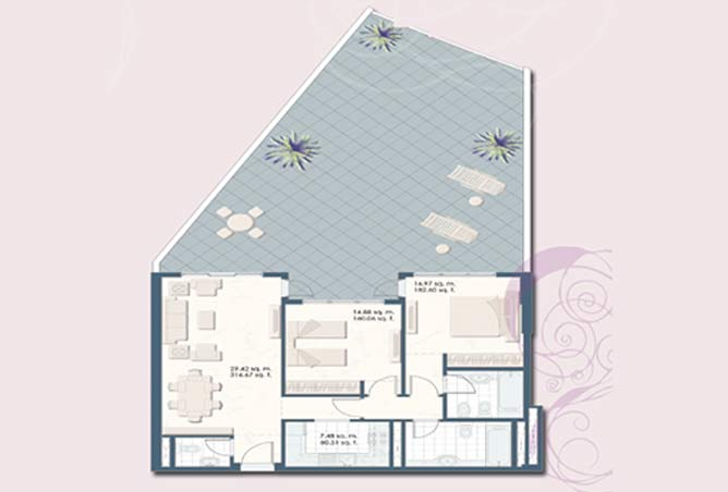Mangrove Place Floor Plan 2 Bedroom Apartment a 1 1958