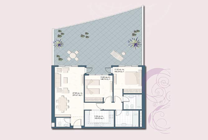 Mangrove Place Floor Plan 2 Bedroom Apartment a 2 1792