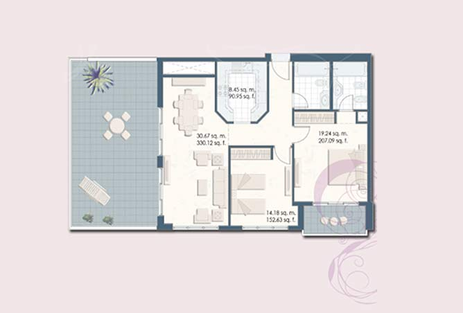 Mangrove Place Floor Plan 2 Bedroom Apartment e 1450