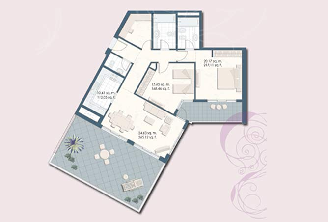 Mangrove Place Floor Plan 2 Bedroom Apartment f 1642