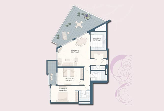 Mangrove Place Floor Plan 2 Bedroom Apartment g 1796