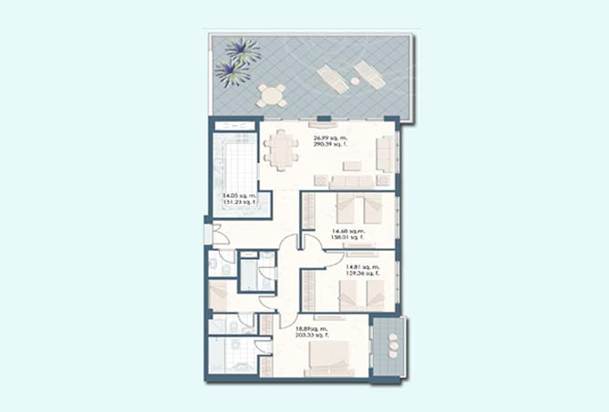 Mangrove Place Floor Plan 3 Bedroom Apartment a 5 1871