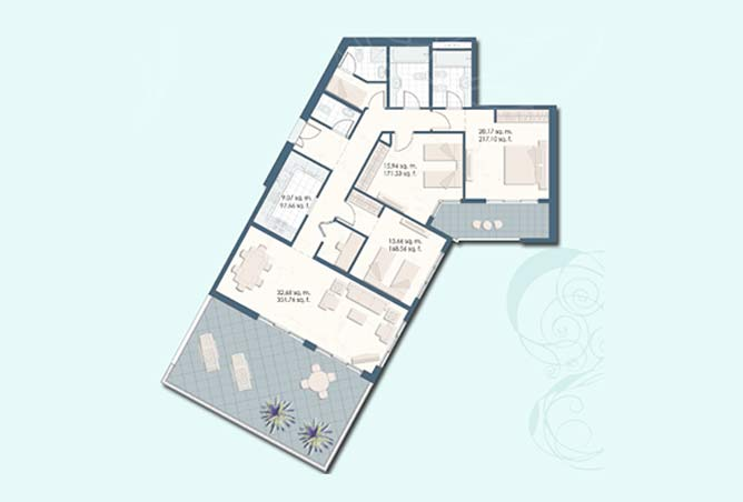Mangrove Place Floor Plan 3 Bedroom Apartment c 1906