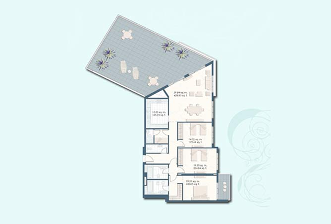 Mangrove Place Floor Plan 3 Bedroom Apartment f 2698