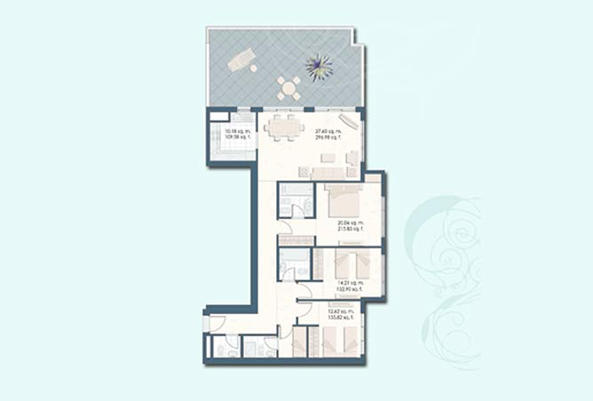 Mangrove Place Floor Plan 3 Bedroom Apartment g 1803