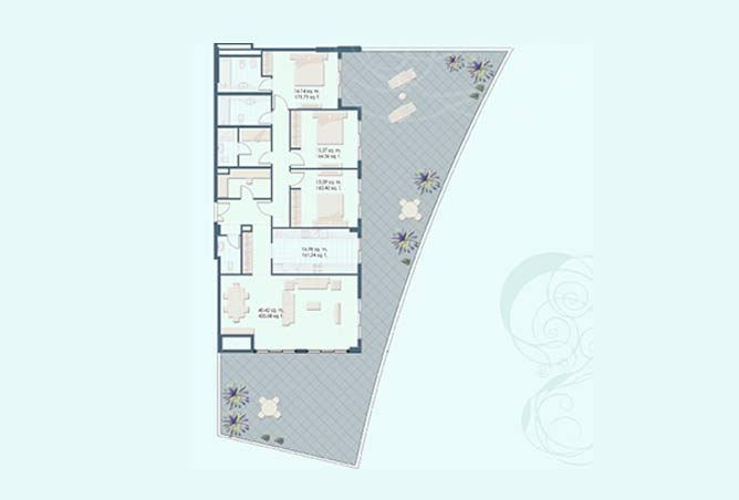 Mangrove Place Floor Plan 3 Bedroom Apartment i 1 3257