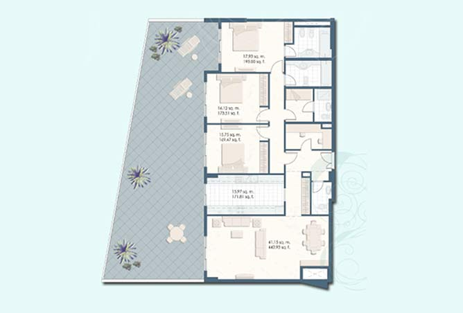 Mangrove Place Floor Plan 3 Bedroom Apartment i 3277
