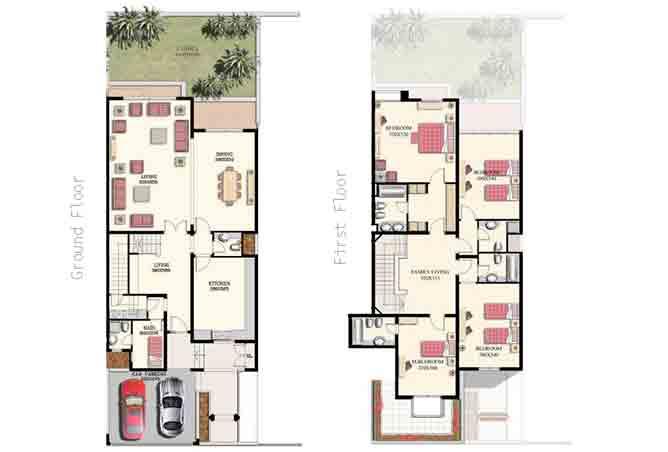 Mangrove Village Floor Plan Abu Dhabi Gate City 4 Bedroom Villa Large 3907 Sqft