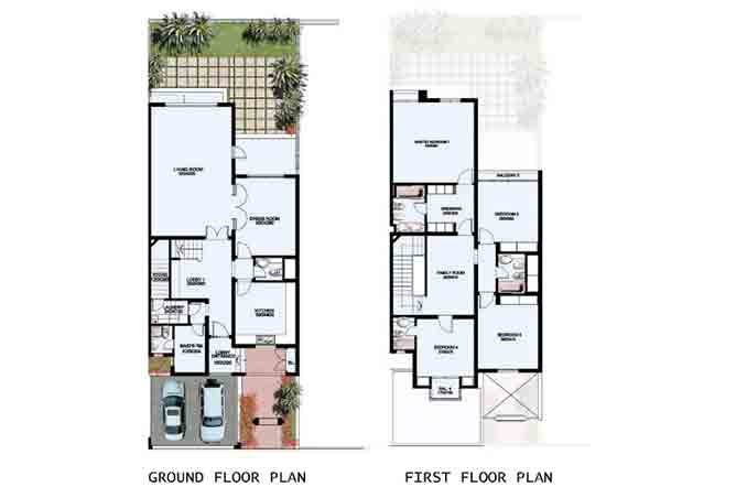 Mangrove Village Floor Plan Abu Dhabi Gate City 4 Bedroom Villa Standard 3509 Sqft