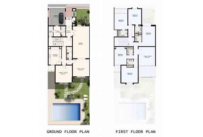 Mangrove Village Floor Plan Abu Dhabi Gate City 5 Bedroom Villa 4693 Sqft