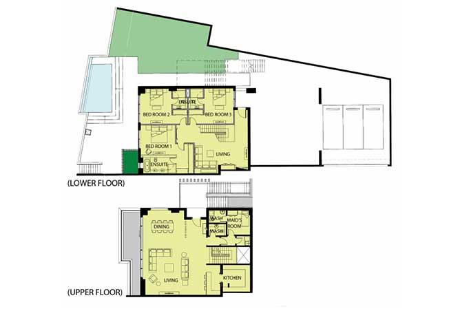 Mayan Floor Plan Beach House Type b1 8264 Sqft 1