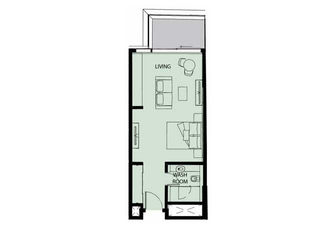 Mayan Floor Plan Studio Flat Type S4 511 Sqft 1