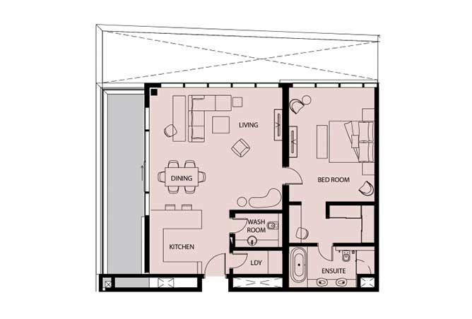 Mayan Floor Plan 1 Bedroom Apartment 1i 1346 Sqft