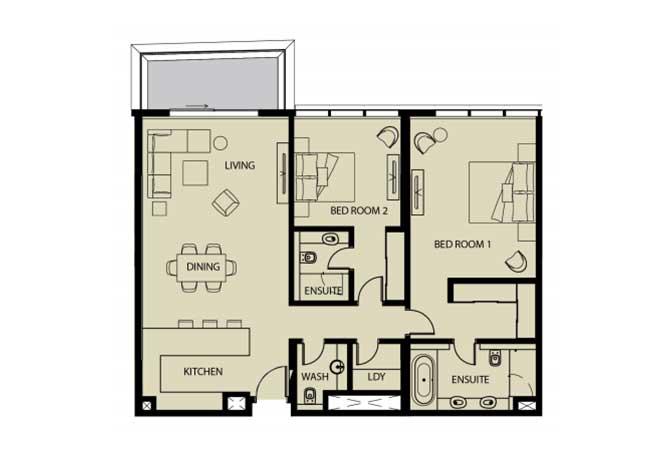 Mayan Floor Plan 2 Bedroom Apartment 2h 2 1479 Sqft