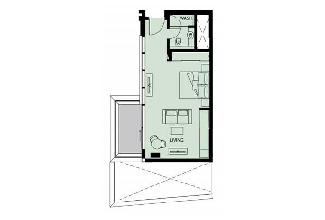 Mayan Floor Plan Studio Flat s11 529 Sqft