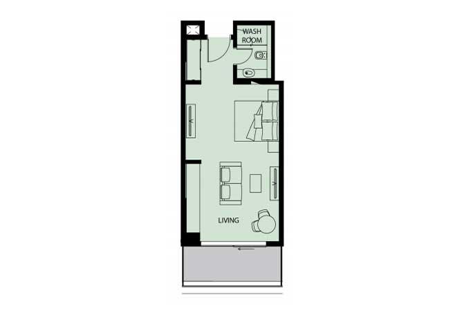 Mayan Floor Plan Studio Flat s3 532 Sqft