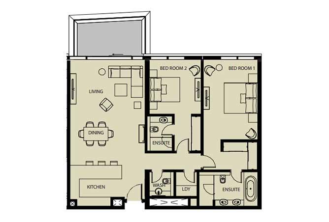 Mayan Floor Plan 2 Bedroom Flat 2i 1442 Sqft