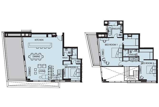 Mayan Floor Plan 3 Bedroom Flat d 3p 1 2543 Sqft