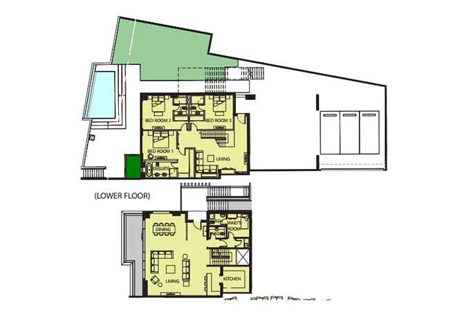 Mayan Floor Plan Beach House b1 8264 Sqft