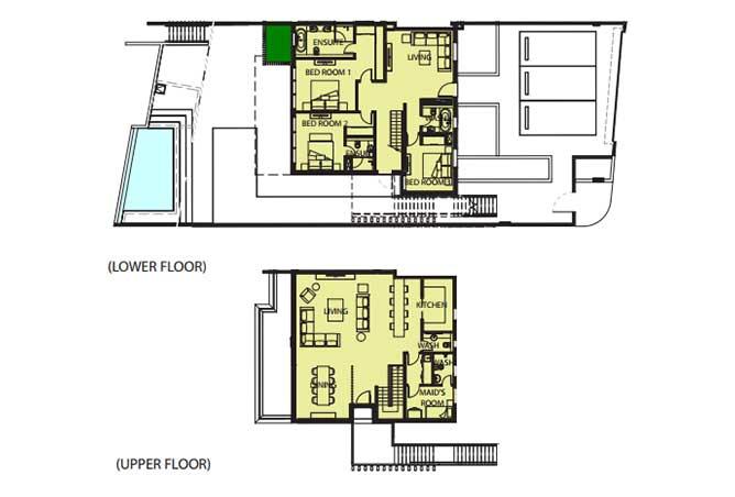 Mayan Floor Plan Beach House b2 6633 Sqft