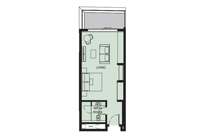 Mayan Floor Plan Studio Flat s11 681 Sqft