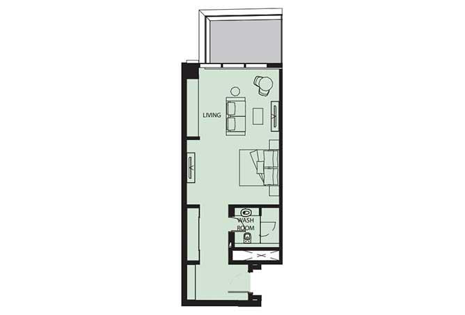 Mayan Floor Plan Studio Flat s8 681 Sqft