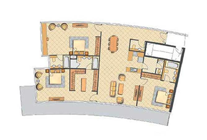 Oceanscape Floor Plan 3 Bedroom Apartment