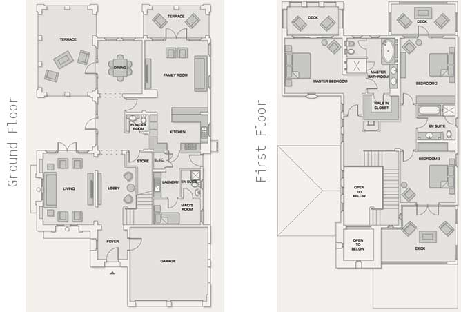 Saadiyat Beach Villas Floor Plan Arabian Villa 3 Bedroom Villa 4933 Sqft