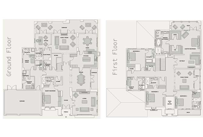 Saadiyat Beach Villas Floor Plan Arabian Villa 5 Bedroom Villa Executive 8260 Sqft